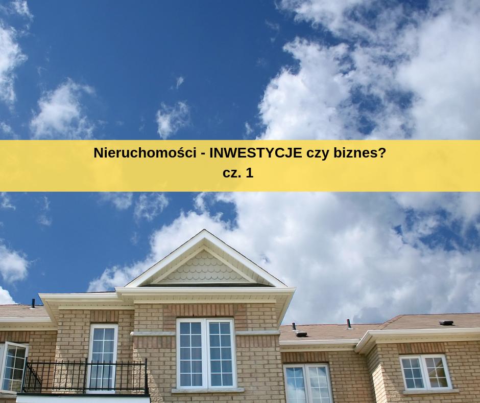 nieruchomości inwestycje